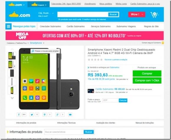 Xiaomi Redmi 2 aparece com preço atraente em loja online no Brasil, mas espere, android, mercado, comercio eletronico, smartphones, lançamentos