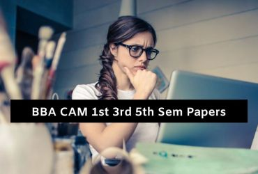 Mdu BBA CAM Question Papers