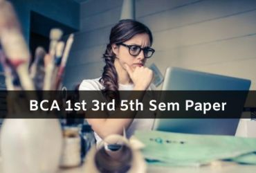 Mdu BCA Question Papers