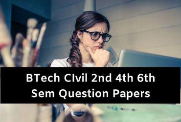 BTech Civil Question Papers