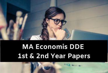 Mdu DDE MA Economics Question Papers