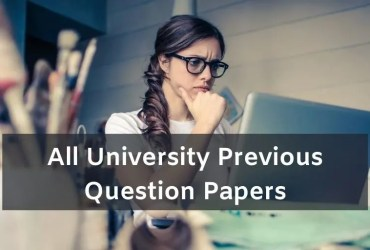 All University Previous Question Papers