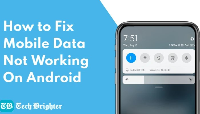 Fix Mobile Data Not Working