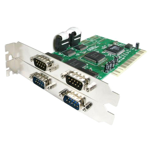 4 Port PCI Serial Adapter Card - 1 Pack - Plug-in Card - PCI - PC - 2 x Number of Serial Ports Internal