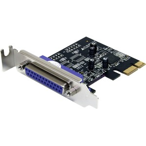1 Port PCI Express Low Profile Parallel Adapter Card - SPP/EPP/ECP - 1 Pack - Low-profile Plug-in Card - PCI Express x1 - PC - 1 x Number of Parallel Ports External