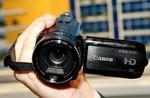 LAS VEGAS - JANUARY 09:  Canon's Vixia HF S10 ...