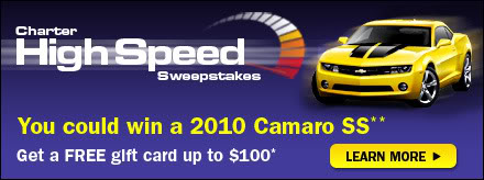 Win a 2010 Camero 2SS with Charter