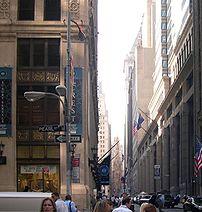 View of Wall Street, Manhattan.