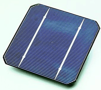 A solar cell made from a monocrystalline silic...