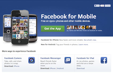 Unlike Google+ Facebook is for Every Phone!