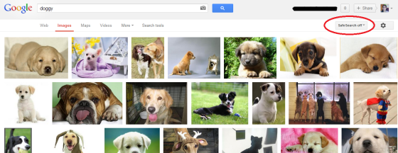 Google image search SafeSearch Off