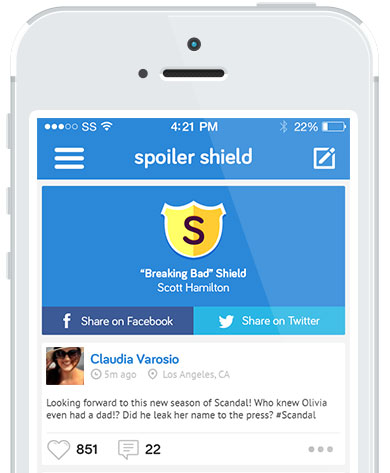 Spoiler Shield Blocks Spoilers From Your Friends While Using Twitter And Facebook