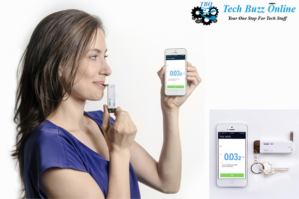 BACtrack Vio keychain breathalyzer on iOS and Android shows level of intoxication