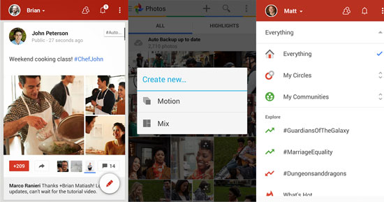 Google+ for Android revamped and gets a facelift