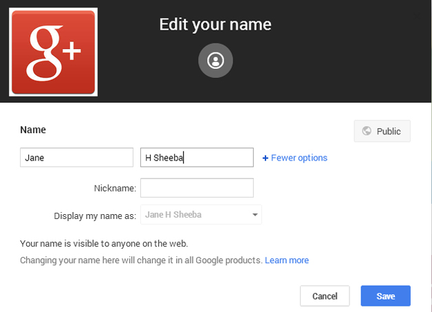 Google+ lifts real profile name restriction: You can use Pseudo names now