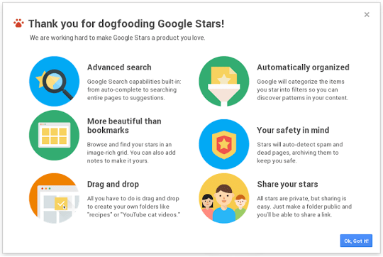 Google Stars: A Broader Bookmarking Service [Video And Screenshots]