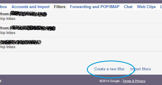 How to block an email address in Gmail-create-a-new-filter
