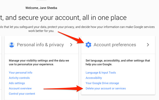 Gmail account preferences