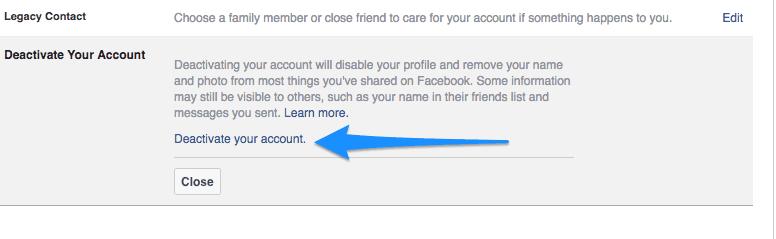 Facebook-deactivate