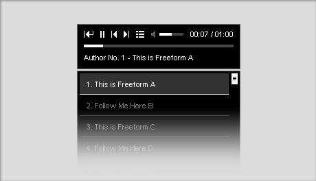 Chameleon HTML5 audio player