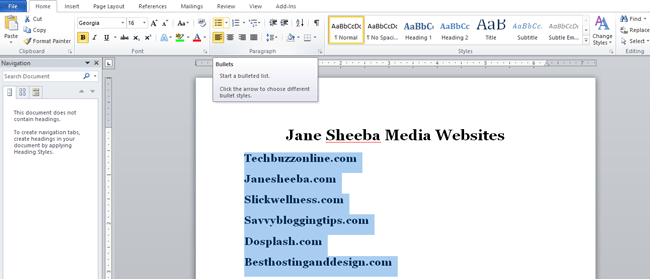Creating a printable checklist in Word-list1