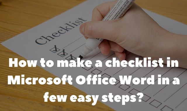 How to Create Checklist in Microsoft Office Word