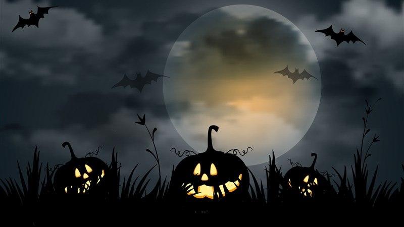 Jack-O-Lanterns in Night