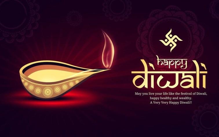 Happy Diwali Wishes with Diya