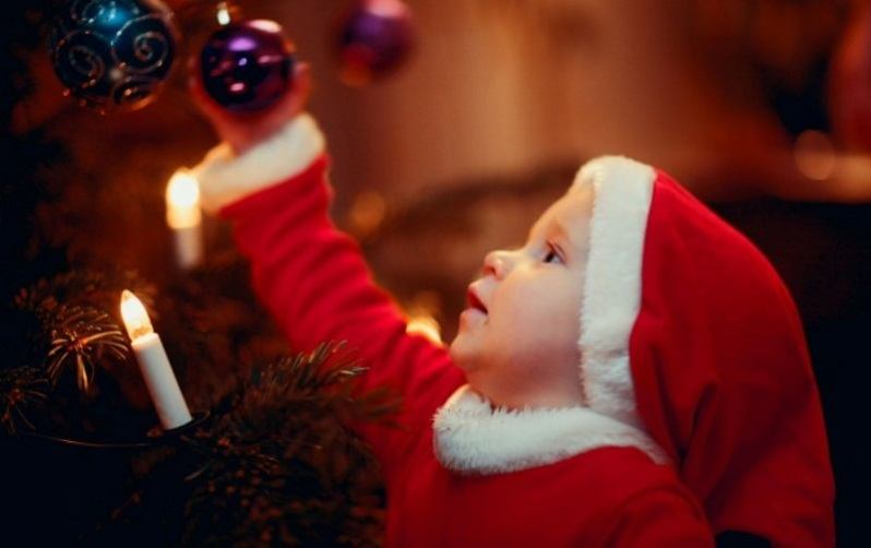 Cute Santa and Christmas Tree
