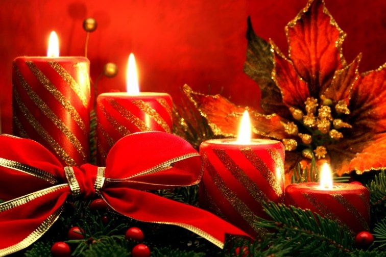 Christmas Lighting with Candle