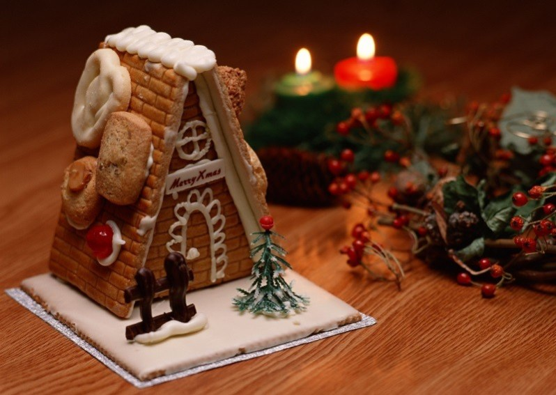 Christmas Sweets House with Candles