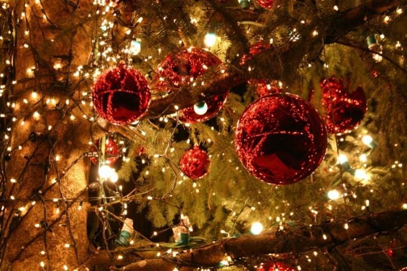 Christmas Ornaments Lights Wallpaper