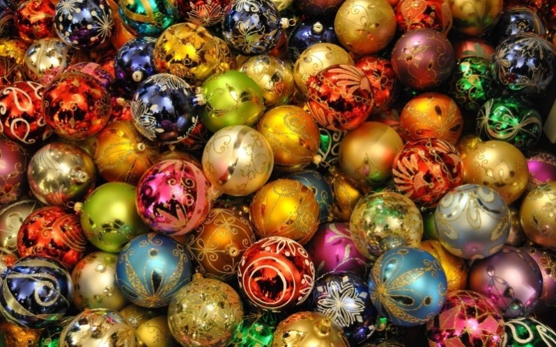 Christmas Colorful Ornaments
