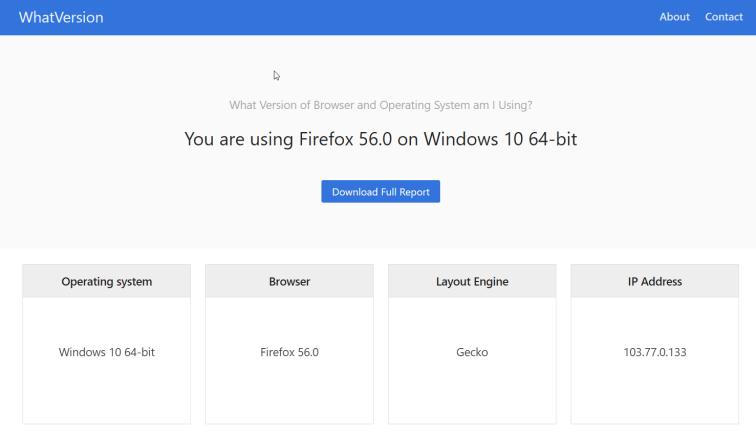 Firefox Version