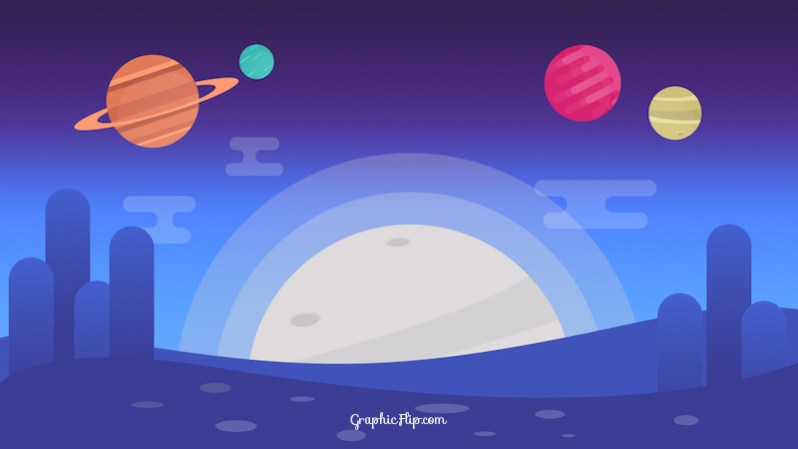 Flat Space Background
