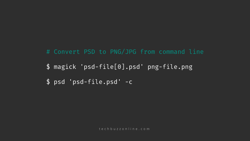 Export Images from PSD Files via Command Line without Photoshop