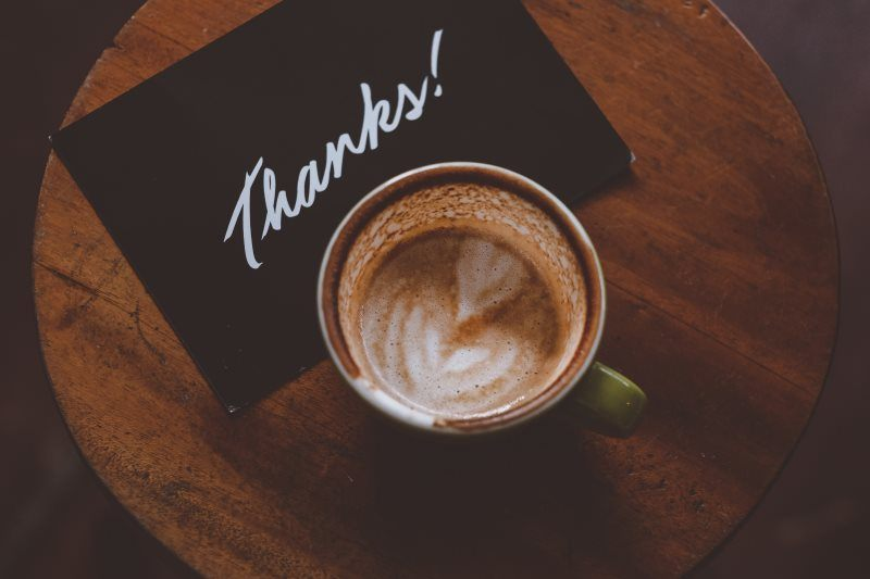 1 thanks with coffee