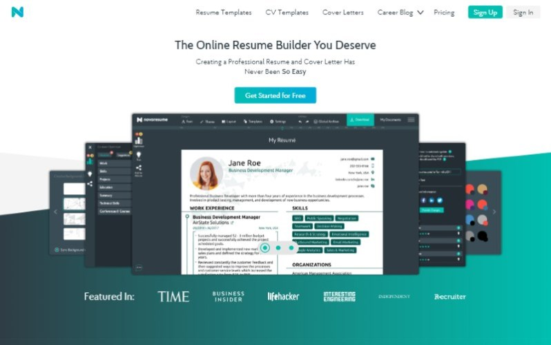 10 novo resume builder