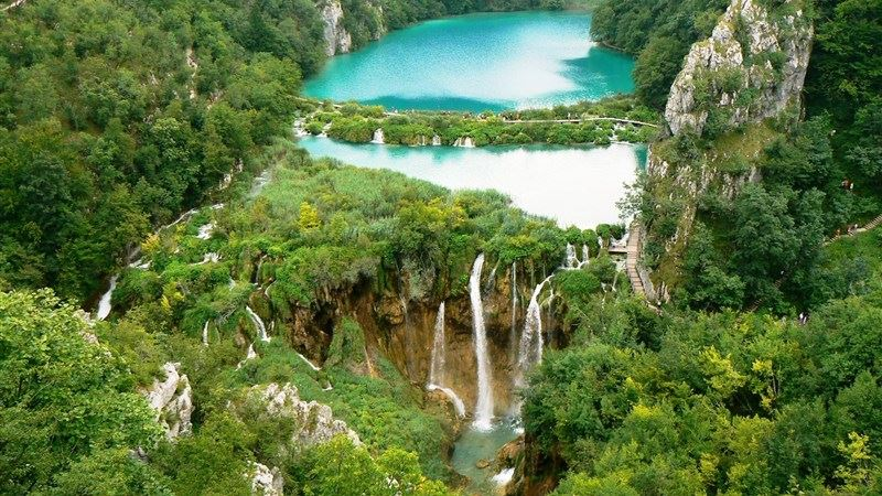 Waterfall Plitvice Lakes National Park Wallpaper