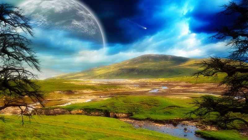 Sci Fi Landscape Wallpaper