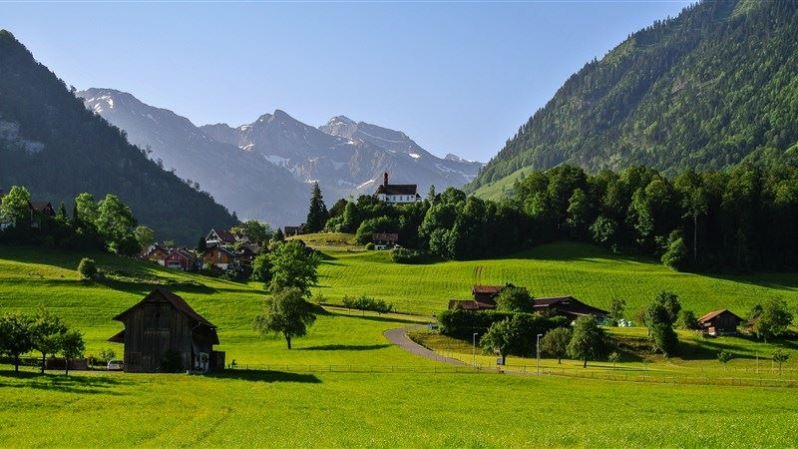 Switzerland Mounatin Landscape Wallpaper