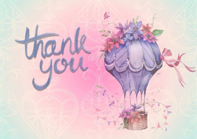 17 thank you background with air balloon