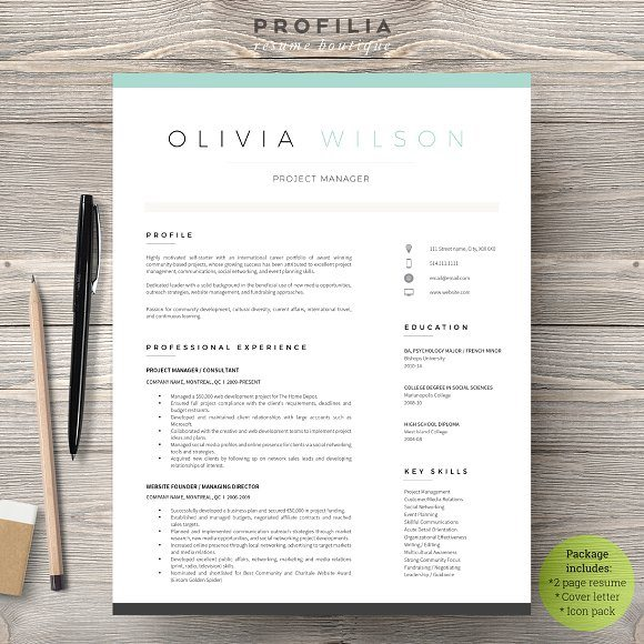 21 modern and eyecatching template