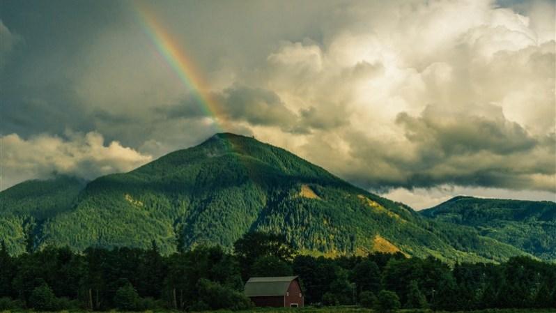 Rainbow Mountain Nature Wallpaper