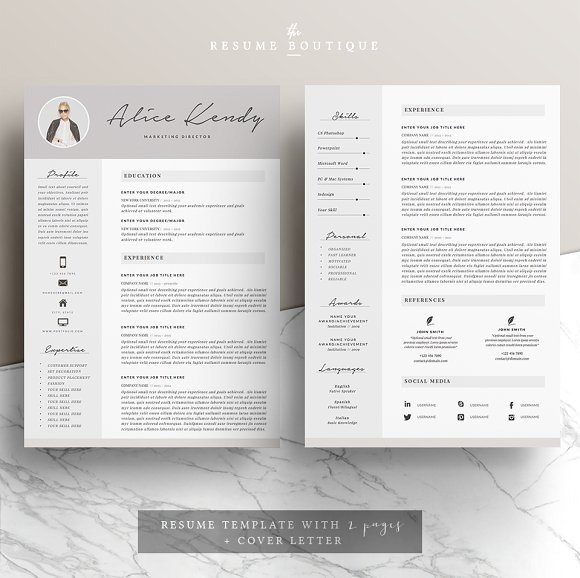27 charming 4 pages resume template