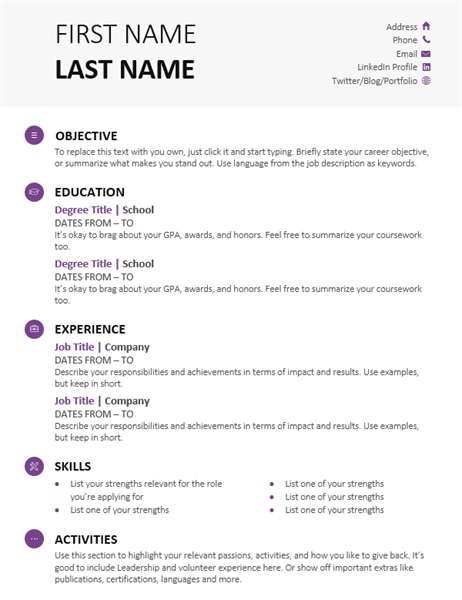 35 student resume modern design