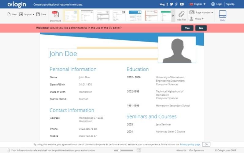4 cvlogin free resume template builder