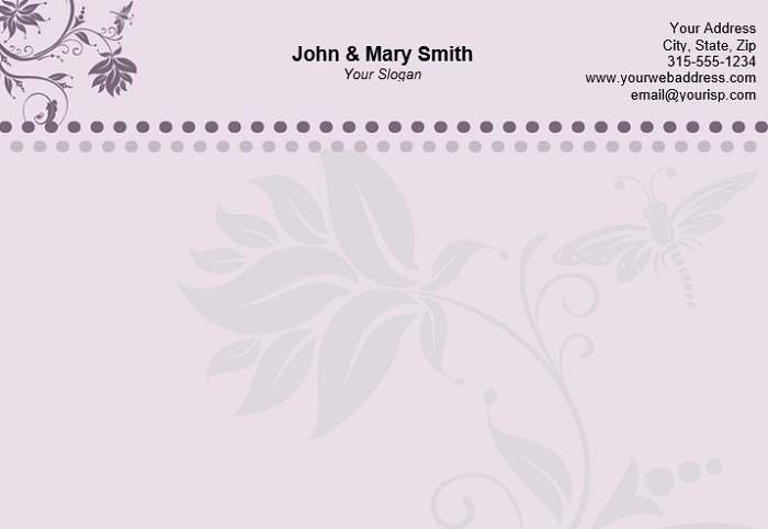 4 Specialized Personal Letterhead