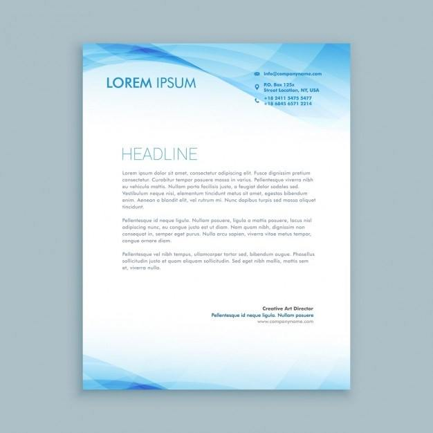 Blue Waves Business Letterhead