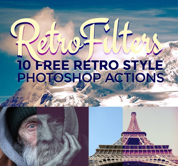 Free Retro Style Photo Effect Photoshop Actions